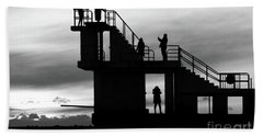 Mono Sunset Blackrock  Beach Towel