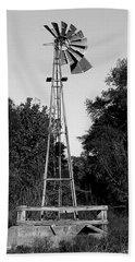 Monochrome Abandoned Windmill Whisper Windmill   Beach Sheet