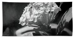Monochrome Flora Beach Towel