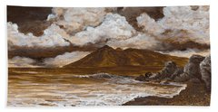 Beach Towel featuring the painting Monochrome Maui by Darice Machel McGuire