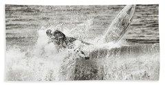 Monochrome Wipeout Beach Sheet