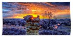 Monolithic Sunrise Beach Towel by Fiskr Larsen