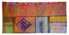 Beach Towel featuring the mixed media Monopoly Dream by Kevin Caudill