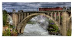 Monroe Street Bridge Spokane Beach Towel