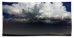 Beach Towel featuring the photograph Monsoon by Chris Tarpening