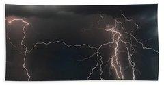 Monsoon Lighting Storm Beach Towel