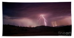 Beach Sheet featuring the photograph Monsoon Lightning by Anthony Citro