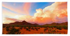 Monsoon Storm Sunset Beach Towel
