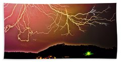 Monster Lightning By Michael Tidwell Beach Sheet