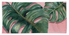 Monstera Leaf  Beach Towel
