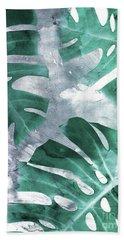 Monstera Theme 1 Beach Sheet by Emanuela Carratoni