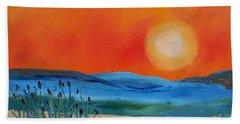 Montana Firery Sunset             49 Beach Towel