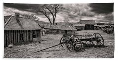 Beach Towel featuring the photograph Montana Ghost Town by Scott Read