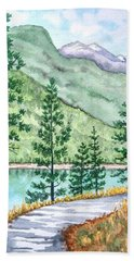 Montana - Lake Como Series Beach Towel