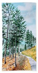 Montana Lake Como Trail Beach Towel