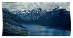 Montana Mountain Vista And Lake Beach Sheet
