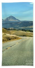 Montana Road Beach Towel by Jill Battaglia