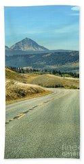 Montana Road Beach Sheet by Jill Battaglia