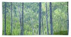 Montana Trees Beach Towel