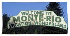 Monte Rio Sign Beach Sheet