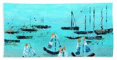 Monterey Boats Beach Towel