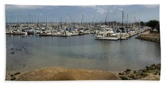 Monterey Harbor Beach Towel