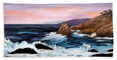 Monterey Sunrise Beach Towel by Laura Iverson