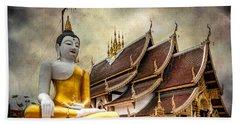 Monthian Temple Buddha Beach Towel
