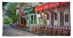 Montmartre Cafe Beach Towel