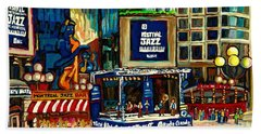 Montreal International Jazz Festival Beach Sheet by Carole Spandau