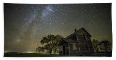 Beach Sheet featuring the photograph Montrose Orionid by Aaron J Groen