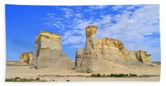 Monument Rocks In Kansas 2 Beach Towel