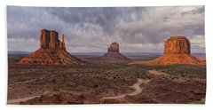 Monument Valley Mittens Az Dsc03662 Beach Sheet by Greg Kluempers