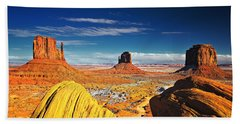 Monument Valley Mittens Utah Usa Beach Sheet