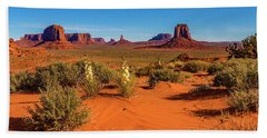 Beach Towel featuring the photograph Monument Valley by Norman Hall