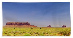Monument Valley South View Beach Towel