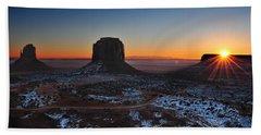 Monument Valley Sunrise Beach Towel