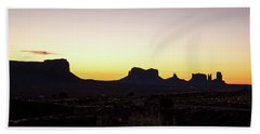 Beach Towel featuring the photograph Monument Valley Sunrise, Utah by A Gurmankin