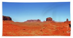 Beach Towel featuring the photograph Monument Valley Two by Paul Mashburn
