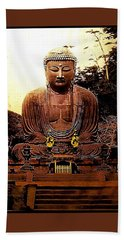 Monumental Japanese Zen Buddha Beach Towel