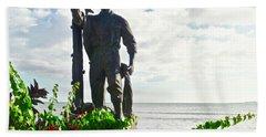 Monumento Al Pescador Juanadino Beach Towel