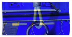 Beach Towel featuring the photograph Mood Blue by Wayne Sherriff