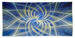 Beach Towel featuring the digital art Moody Blue by Carolyn Marshall