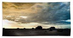 Moody Sky, Dungeness Beach  Beach Towel