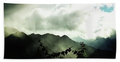 Beach Towel featuring the photograph Moody Weather by Mimulux patricia No