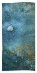 Moon And Earth Beach Towel
