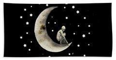 Moon And Stars T Shirt Design Beach Sheet