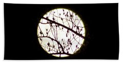 Moon Branches Beach Towel
