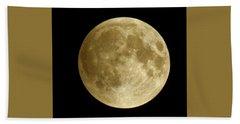 Moon During Eclipse Beach Sheet