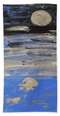 Moon In October Sky Beach Towel